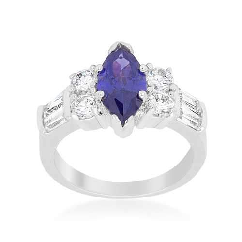 Tanzanite Purple Elegant Cocktail Ring