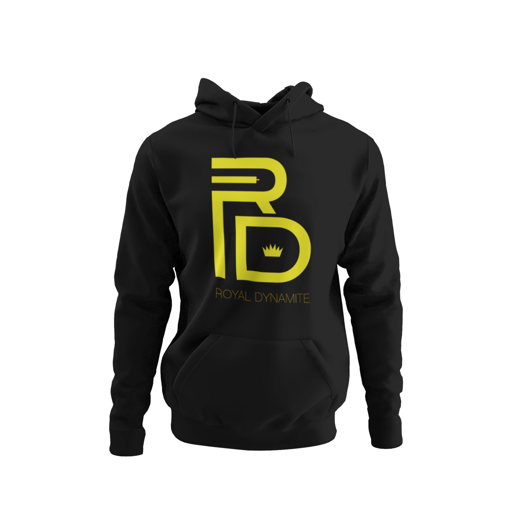 OG RD LOGO HOODIE BLACK & YELLOW - Royal Dynamite