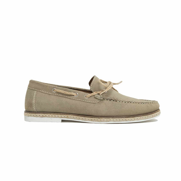WALK London Bahama Lace Loafer Stone Suede