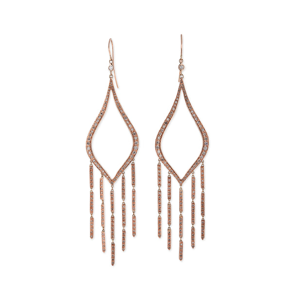 PAVE WATERFALL MOROCCAN HOOPS