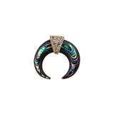 ABALONE MINI DOUBLE HORN STUD