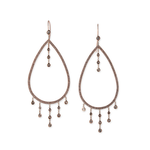 13 DIAMOND DRIP OPEN TEARDROP HOOPS