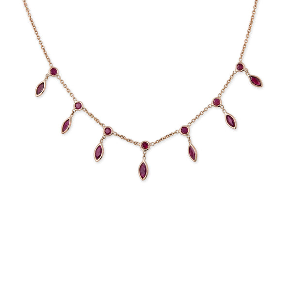 RUBY MARQUISE SHAKER NECKLACE