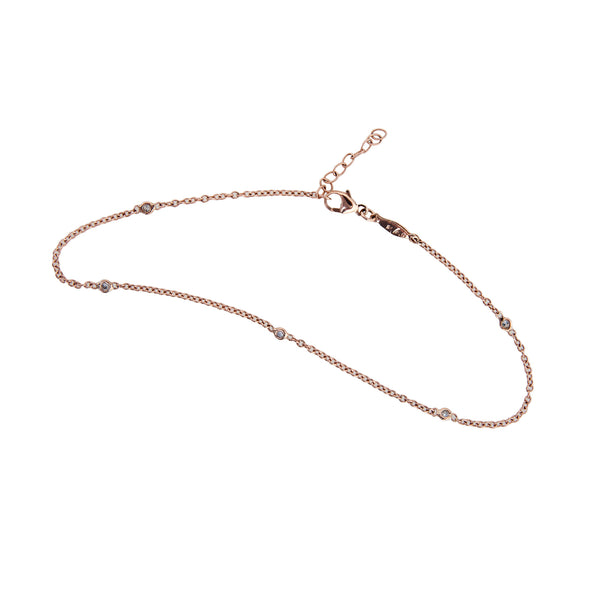 5 DIAMOND ANKLET