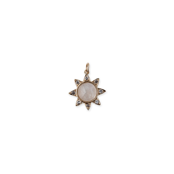 MOONSTONE SUNFLOWER CHARM