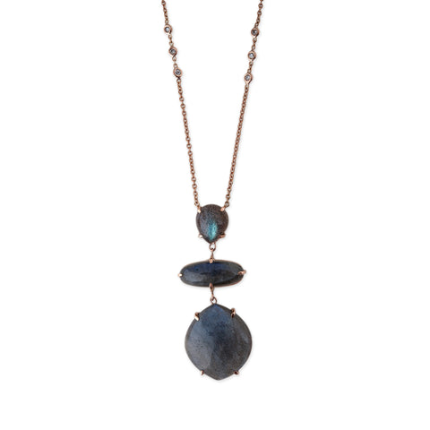 3-STEP LABRADORITE NECKLACE