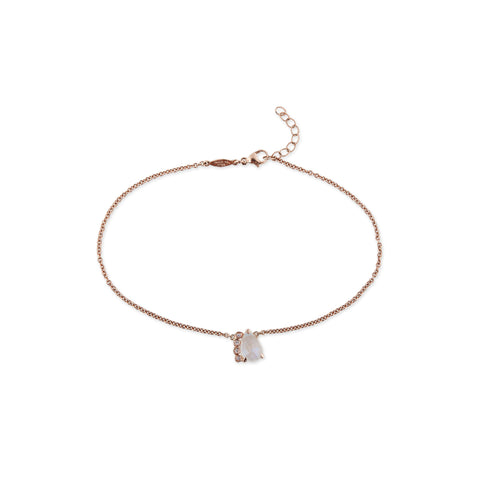 4 DIAMOND MOONSTONE TEARDROP ANKLET