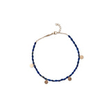 4 DISC CHARM GEMSTONE ANKLET