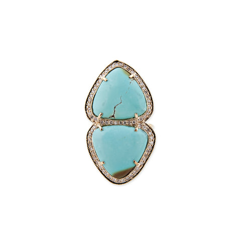 SMOOTH TRIANGLE TURQUOISE TRINITY RING