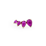 4 RUBY TEARDROP EAR CUFF