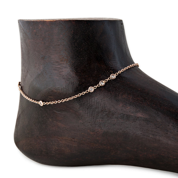 1x2x3 DIAMOND ANKLET