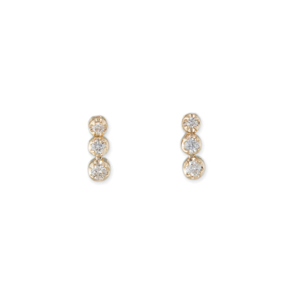 3 DIAMOND KATE EARRING
