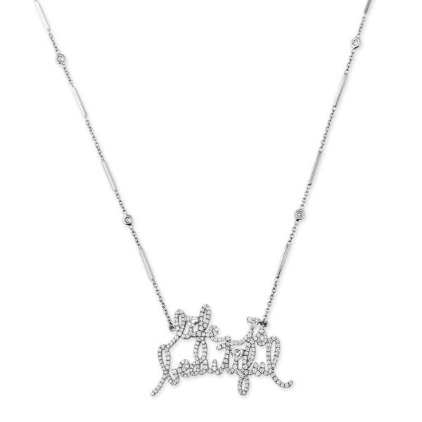 "FULL PAVE ""LIFE IS BEAUTIFUL"" NECKLACE"