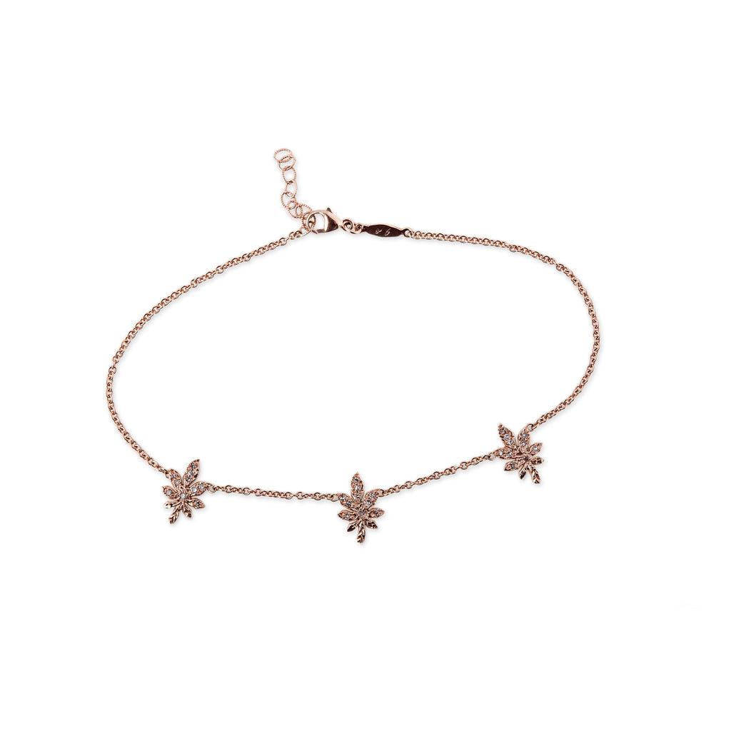 pin tie rose gold black anklet with x leather fl by double jacquie lemons diamonds choker horn for jewellery aiche love accessory bolo and pinterest l