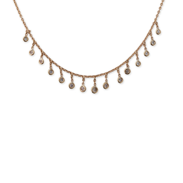 DIAMOND DROP SHAKER NECKLACE