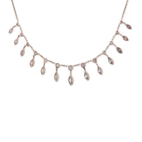 DIAMOND MARQUISE SHAKER NECKLACE