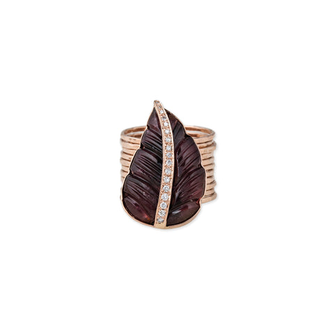 PAVE PINK TOURMALINE MULTI WAIF RING