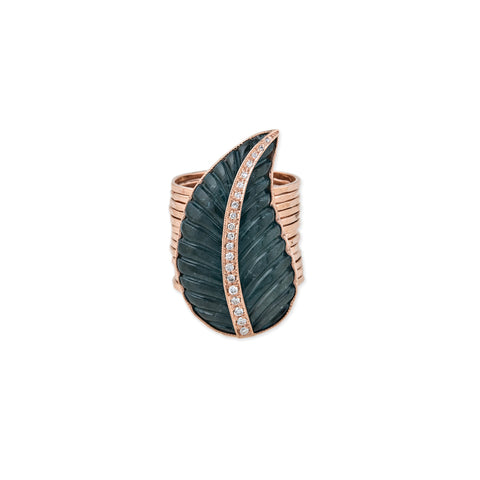 PAVE BLUE TOURMALINE MULTI WAIF RING