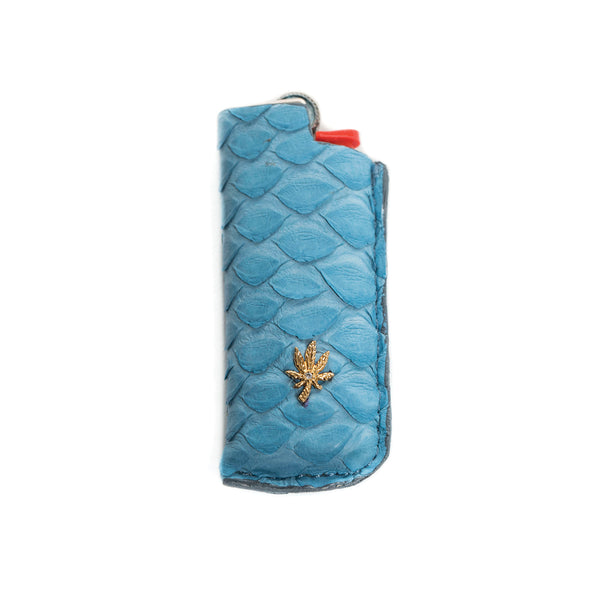 LIGHT BLUE SNAKE SKIN SWEET LEAF LIGHTER