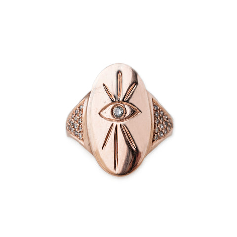 EYE BURST SIGNET RING