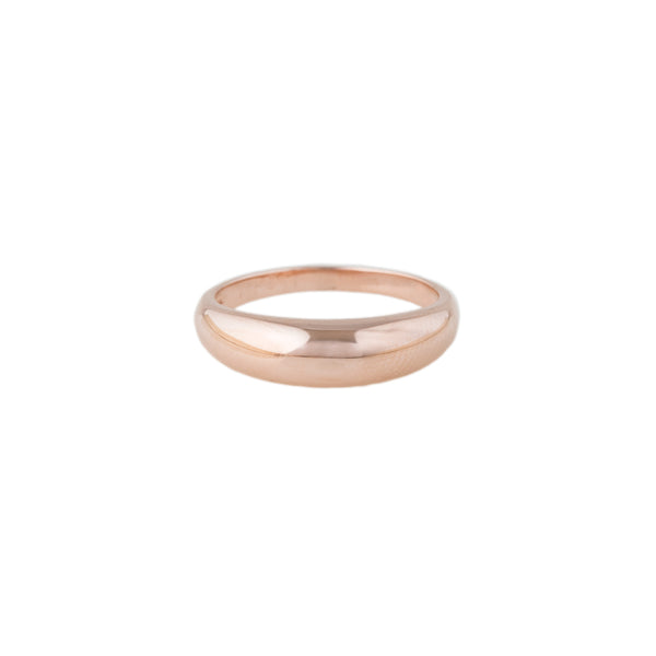 SMOOTH GOLD DOME RING