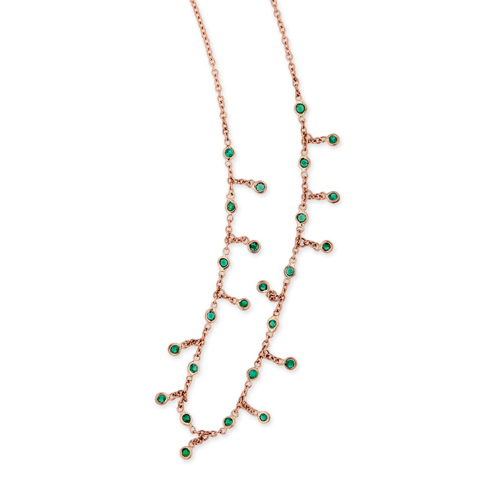 EMERALD SHAKER NECKLACE