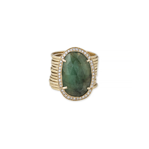 FREEFORM EMERALD MULTI WAIF RING