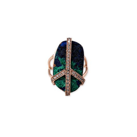 AZURITE PEACE RING