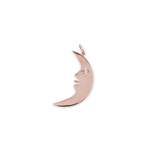DIAMOND EYE CRESCENT MOON CHARM
