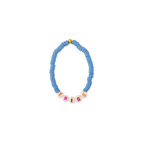 ZOE AICHE SOLID HEISHI BEADED WORD BRACELET