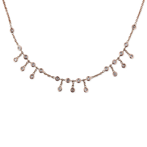 3X3X3 DIAMOND SHAKER NECKLACE