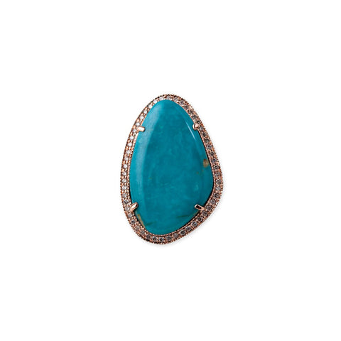 FREEFORM TURQUOISE COCKTAIL RING
