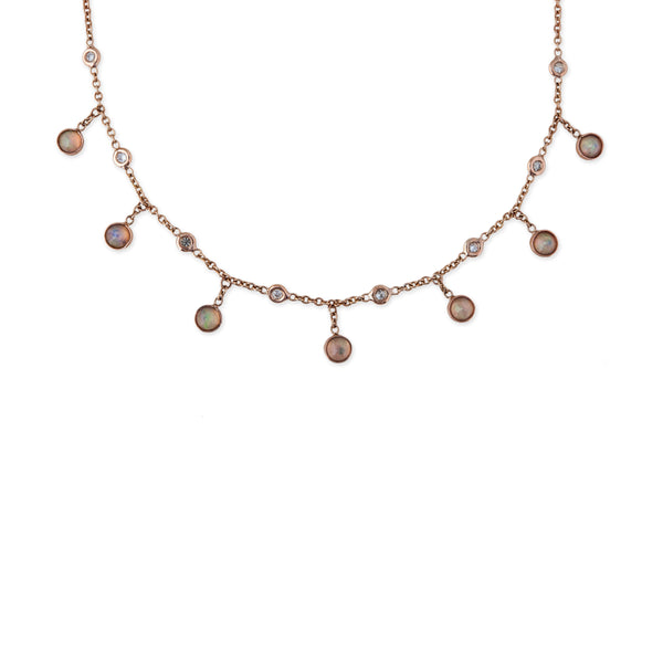 ROUND OPAL SHAKER NECKLACE