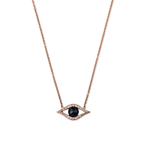 ONYX CENTER OPEN EYE NECKLACE