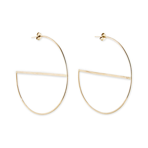 BAR SPLIT HOOP EARRINGS