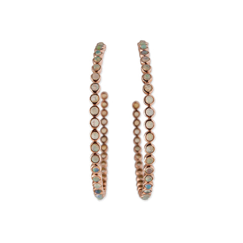 OPAL ETERNITY HOOP EARRINGS