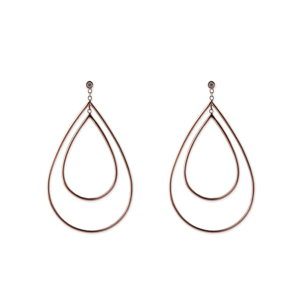 DOUBLE OPEN TEARDROP HOOPS