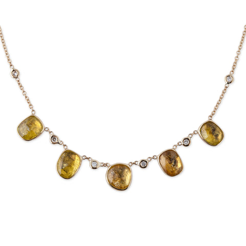5 CITRINE NECKLACE