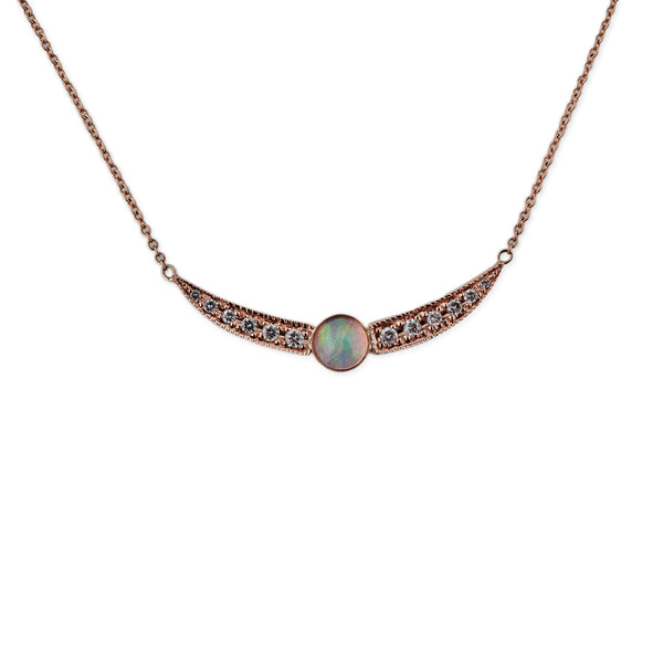 PAVE OPAL DOUBLE WING NECKLACE