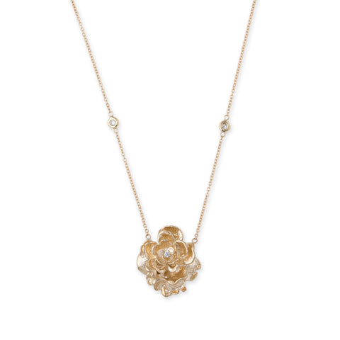 ROSE DIAMOND CENTER NECKLACE