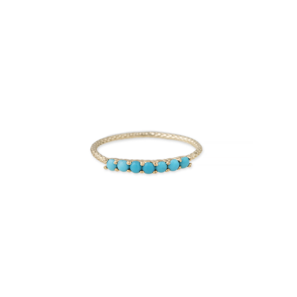 7 TURQUOISE VINTAGE WAIF RING