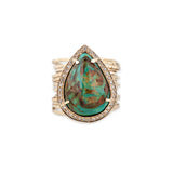 TURQUOISE TEARDROP MULTIWAIF RING