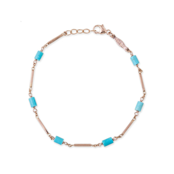 SMOOTH BAR TURQUOISE BEAD BRACELET