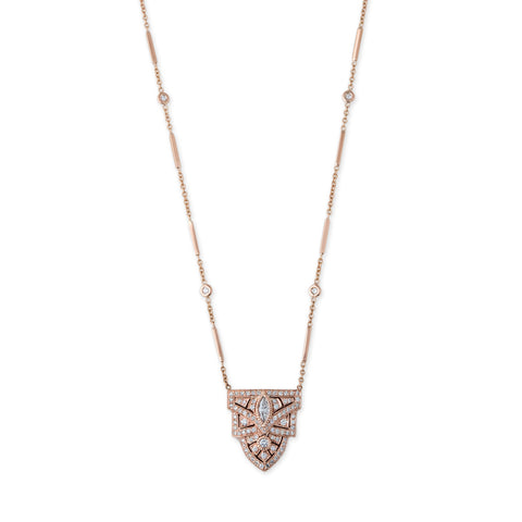 PAVE DIAMOND DECO MARQUISE NECKLACE