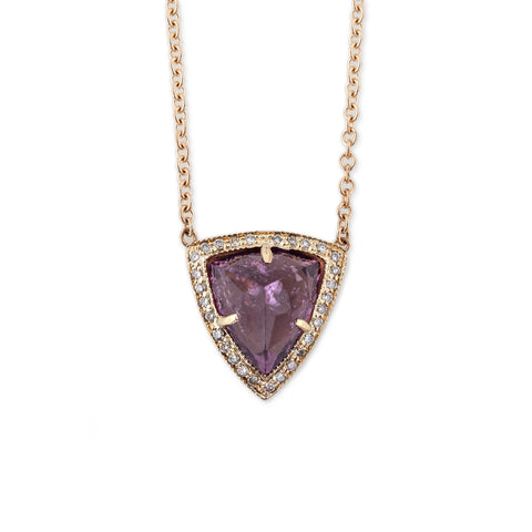 AMETHYST PYRAMID NECKLACE