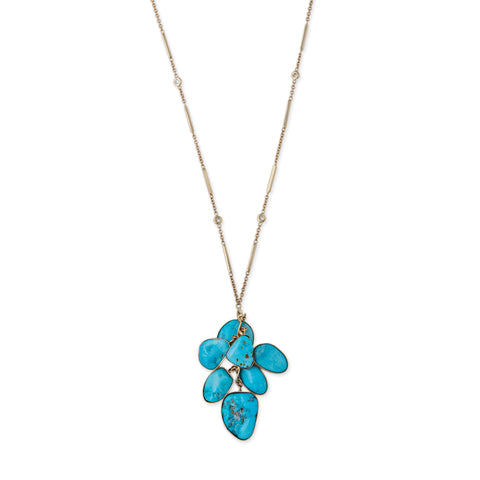FREEFORM TURQUOISE CHARM NECKLACE