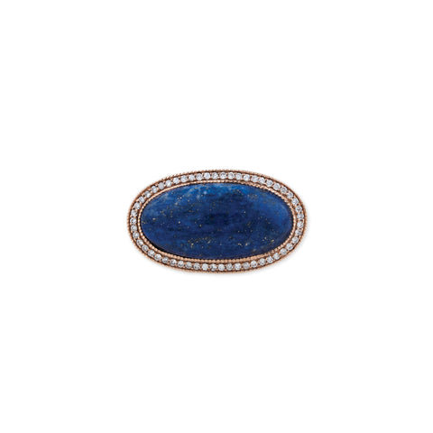 PAVE HORIZONTAL LAPIS RING