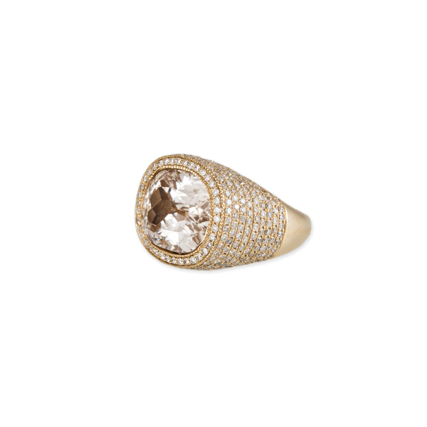 FULL PAVE BERYL SIGNET RING