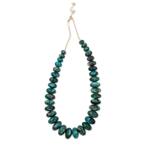 GRADUATED CHRYSOCOLLA BEADED NECKLACE