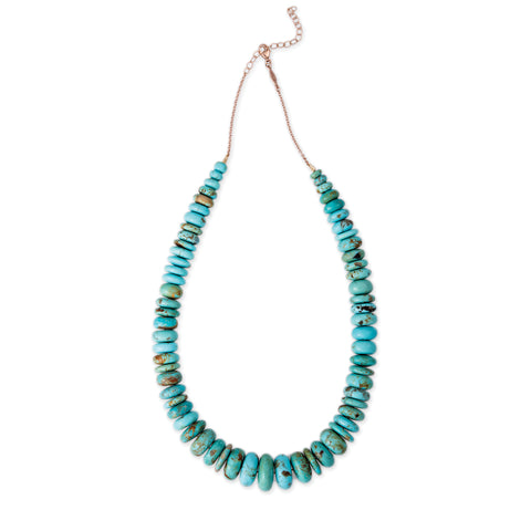 GRADUATED TURQUOISE BEAD NECKLACE